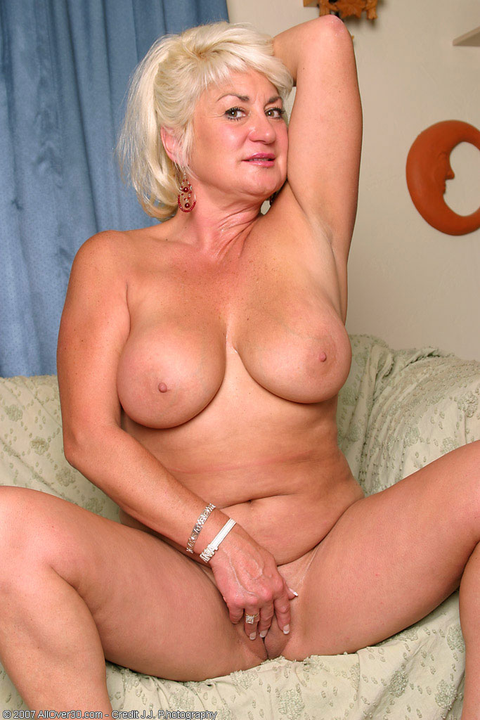 Mature Blonde Fake Tits