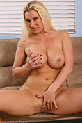 Busty MILF Devon strips and plays with her titties from All Over 30