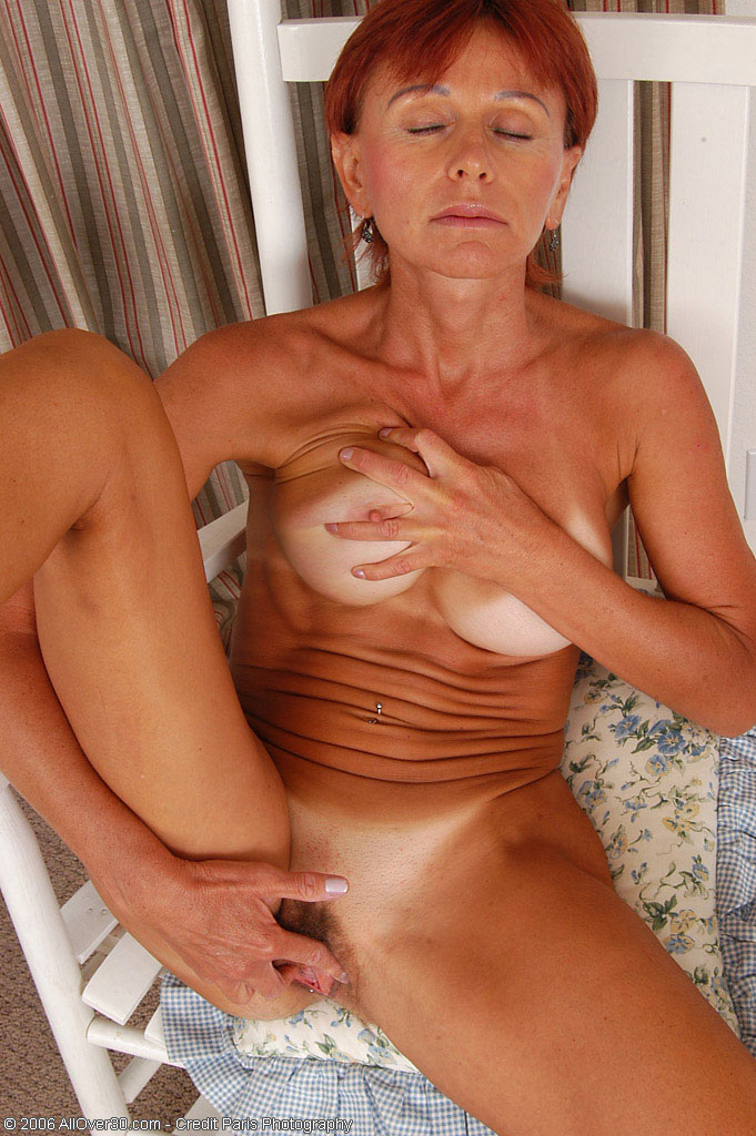 Old granny fingering her pussy