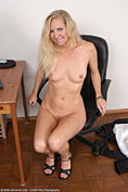 Curvy MILF Kathleen rips off her work clothes to show us some pussy from All Over 30