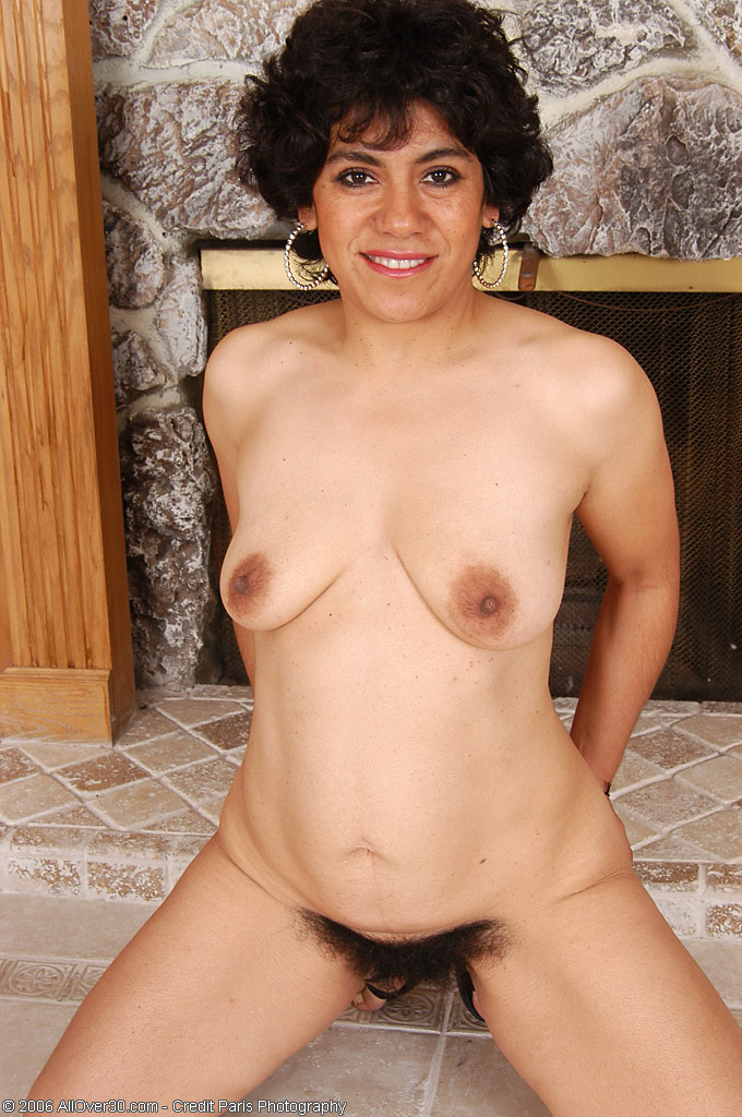 very hairy pussy on this 44 year old mexican milf from all over 30