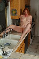 All natural redhead with a soft hot furry red pussy from All Over 30