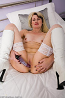 40 year old blonde MILF toys her mature pussy from All Over 30