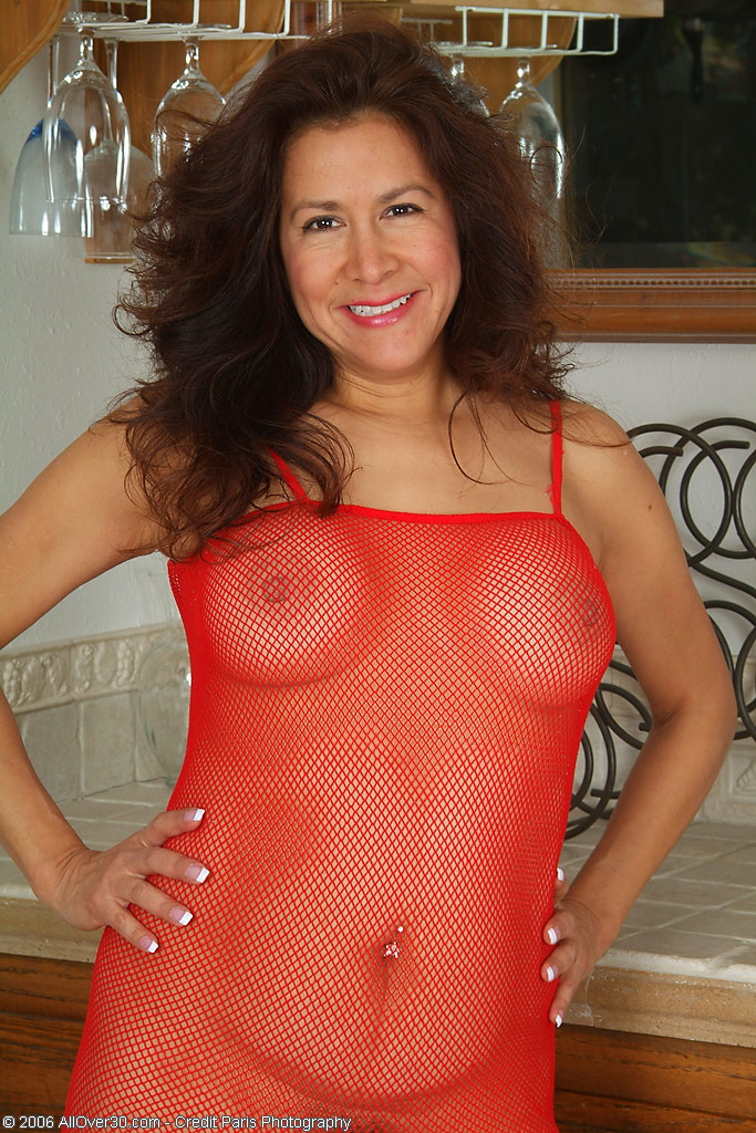 Through top woman see mature