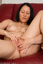 Hot 39 YO Milf Amber fingers her holes from All Over 30