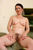 Hot 50 year old Anna B shows off hairy pits from All Over 30