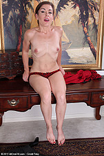 Gorgeous office MILF Annabelle Genovisi spreads wide from All Over 30