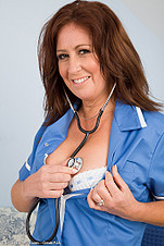 Carol Foxwell plays the milfy nurse from All Over 30