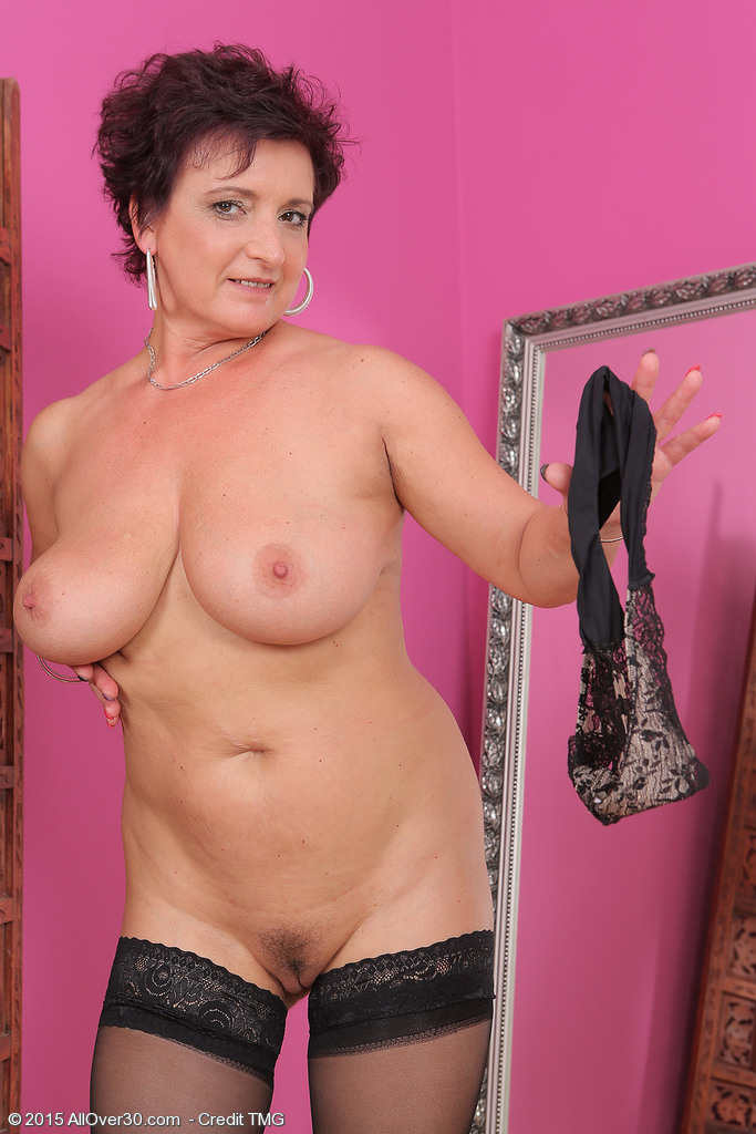 52 year old gilf is back and loves to fuck her dildo 6