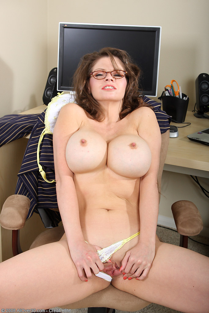 Busty office administrator
