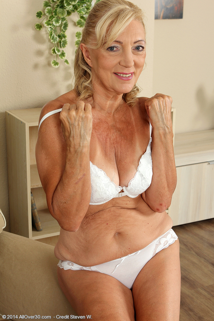 The all over 30 red lingerie granny