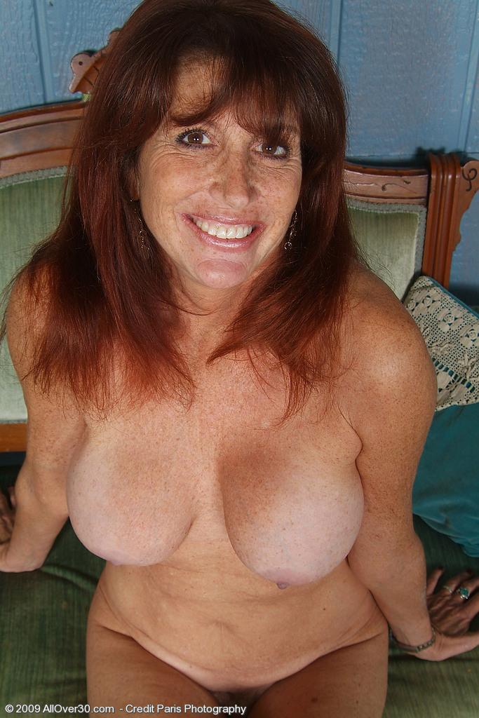 Hot Older Redhead Mom Shows Her Goodies From All Over