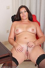 Horny BBW Lara Martinez spreads her perfect pussy from All Over 30