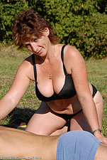 Big it mature Misti gets banged outdoors from All Over 30