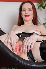Mystique spreads her milf pussy wide from All Over 30