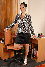 Office gal Ria Black takes a break from her duties to spread ass from All Over 30