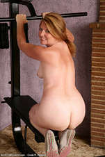 42 year old MILF Kelly shows her silky ass from All Over 30