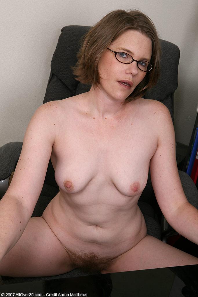 Nerdy blonde glasses milf