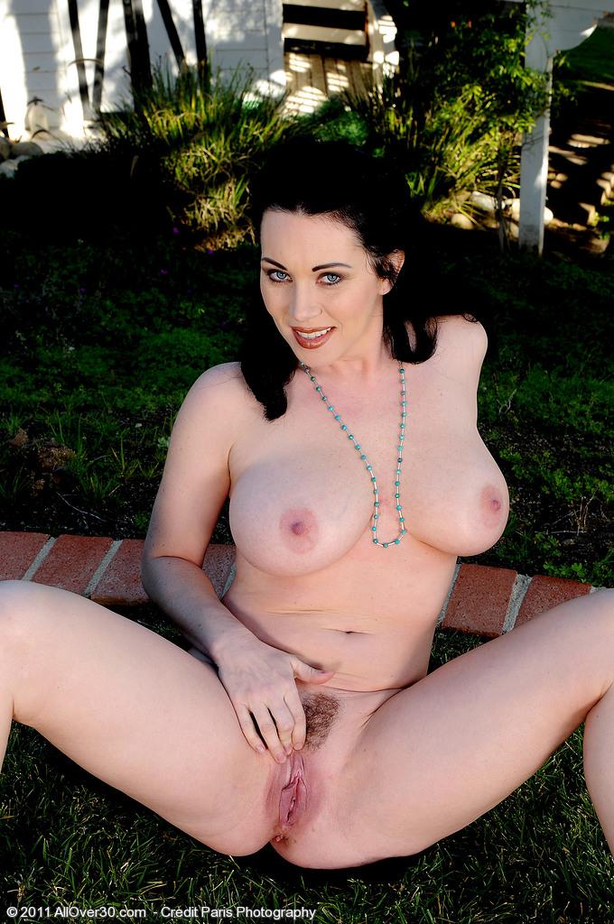 Woman open vagina nude