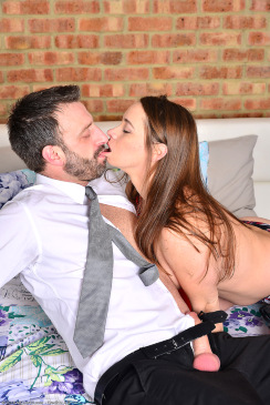Busty 35 Year Old Olga Tames His Cock