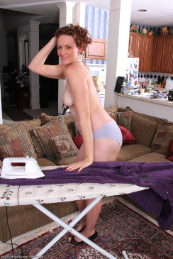 Mature Roxanne Ironing The Laundry